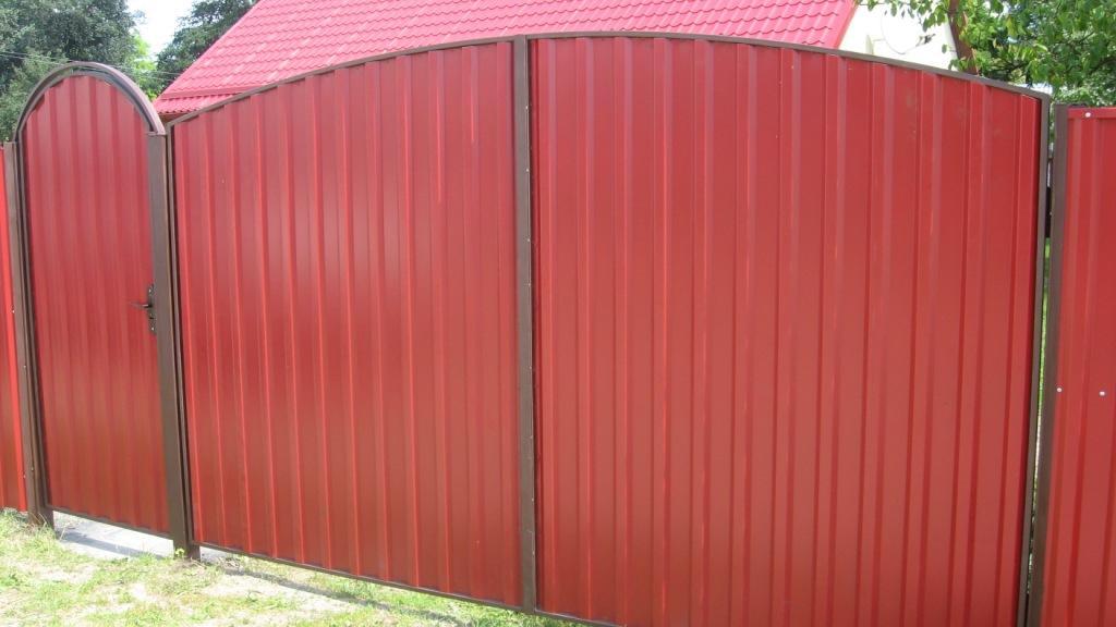 Ворота и калитки из метало профеля для дома автоматические ворота тюмень ул одесская